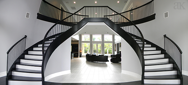 Modern double staircase online image for Double curved staircase